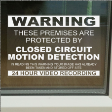 1 x These Premises are Protected by Closed Circuit Television Motion Detection-130mm Worded-Window Stickers
